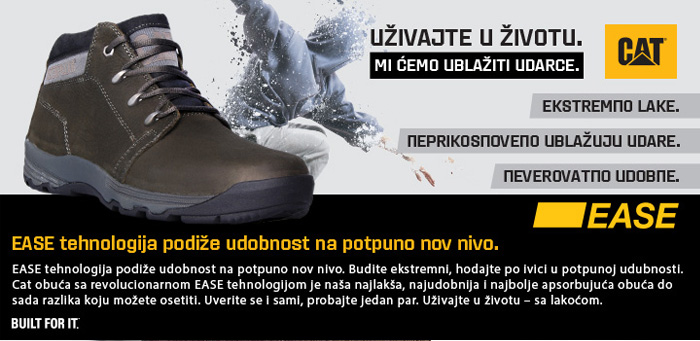 CAT EASE tehnologija ublazava udarce Office shoes - Bosna jesen zima 2015