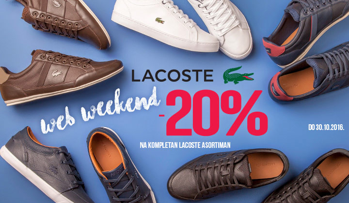 LACOSTE WEB VIKEND -20%  jesen zima 2016 Office shoes Bosnia